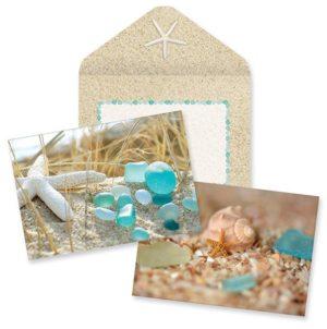 Boxed Notes - Beach Walk Sea Glass & Shells assortment
