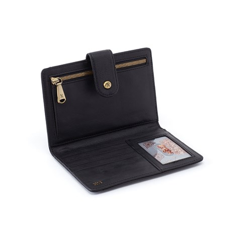 leather Pax Black Wallet & Passport by hobo the original