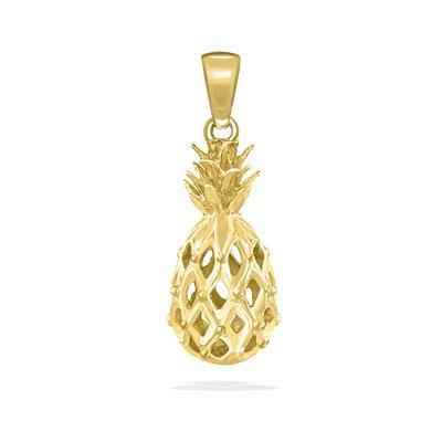 Pineapple Yellow Gold Pendant