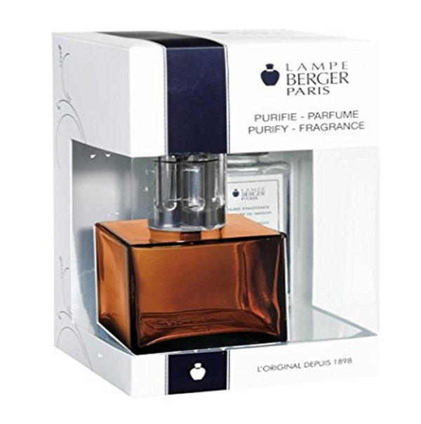 Cube Amber Value Pack with amber cube lamp and ocean breeze home fragrance