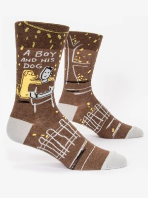 A BOY AND HIS DOG M-CREW SOCKS