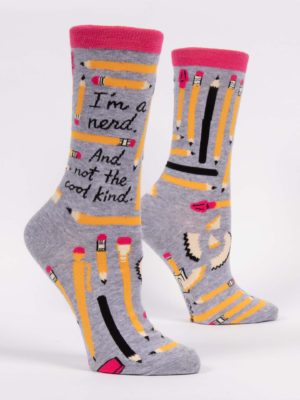 I'M A NERD. AND NOT THE COOL KIND. W-CREW SOCKS
