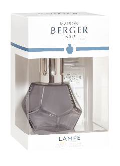 Geometry Lampe Gift Set - black licorice Lampe includes everything you need to get started.  It comes with gift box, lampe, snuffer cap, vent cap, funnel, and instructions. home fragrance air purifier by lampe berger maison berger