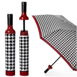 Happening Houndstooth Bottle Umbrella