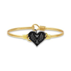 Angel Heart Bangle Bracelet by luca and danni
