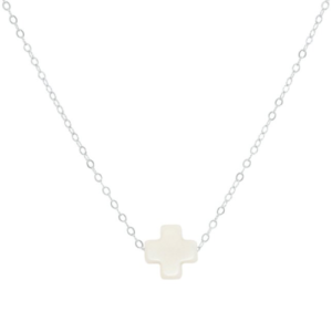 """16"""" necklace - signature cross - sterling"""