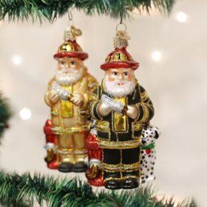 Fireman Santa (a) Ornament