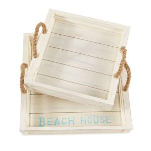 Mud Pie Beach House Tray Set