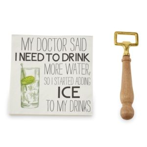 Mud Pie My Doctor Bottle Opener Napkin Set