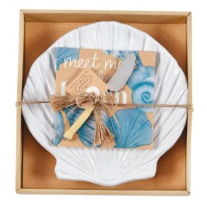 Mud Pie Shell Plate Cheese Set