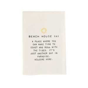 Mud Pie Beach House Towel