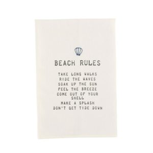 Mud Pie Beach Rules Towel