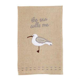Mud Pie Sea Calls Shore Bird Hand Towel
