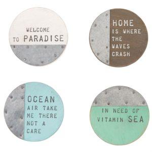 Mud Pie Beach House Coaster Set