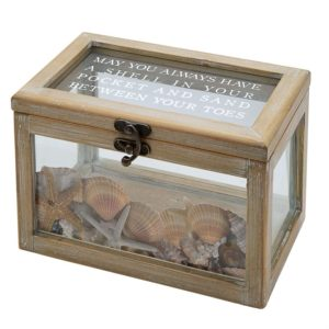 Mud Pie Wood & Glass Beach Shadow-Box