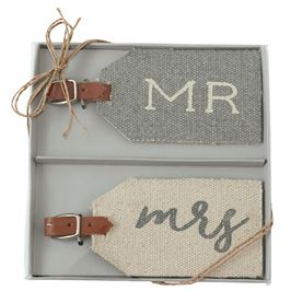 MR. & MRS. DHURRIE LUGGAGE TAG SET
