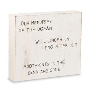 Mud Pie Ocean Memories Carved Wood Plaque