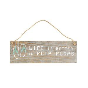 Mud Pie Flip Flops Beach Hanging Plaque