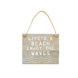 Mud Pie Life's A Beach Hanging Plaque