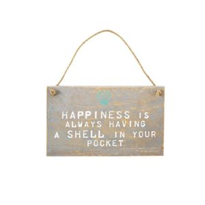 Mud Pie Shell Hanging Plaque