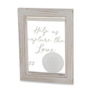 Mud Pie Clear Wedding Hashtag Sign Set
