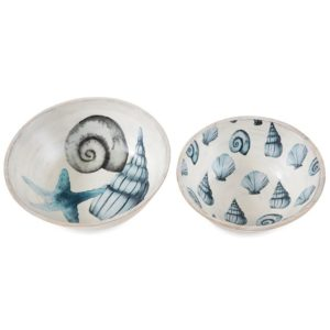 Mud Pie Shell Salad Bowl Set