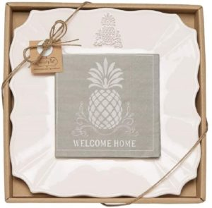 Mud Pie Welcome Home Pineapple Cheese Set