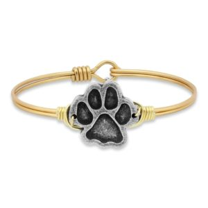 Paw Print Bangle Bracelet handmade in the USA by luca + danni