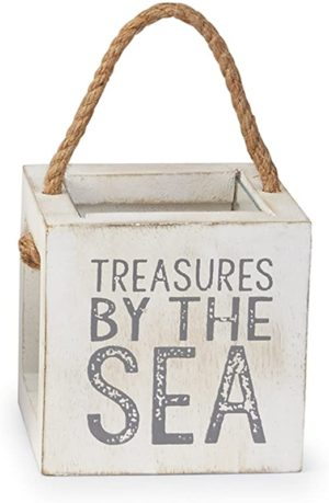 Mud Pie Mango Wood Shell Treasure Box, Every Seashell