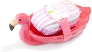 FLAMINGO SOAP PLATE WITH SOAP - NET WT 150G SOAP