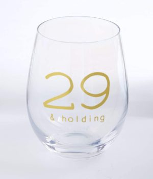 Amazon.com Mud Pie 29th Birthday Stemless Wine Glass