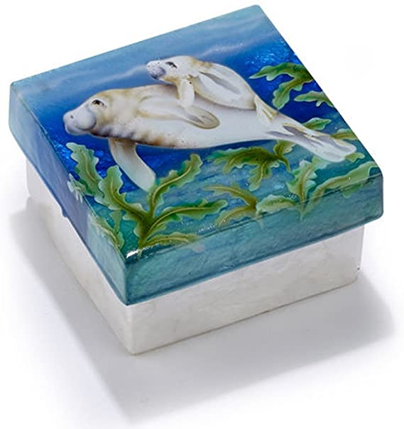 KUBLA CRAFTS manatee capiz box