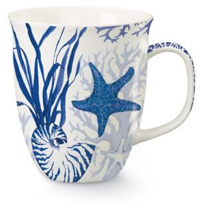 Harbor Mug - Blue Indigo Shells