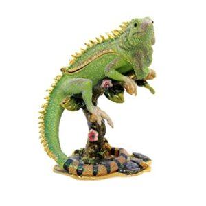 KUBLA CRAFTS iguana on branch box