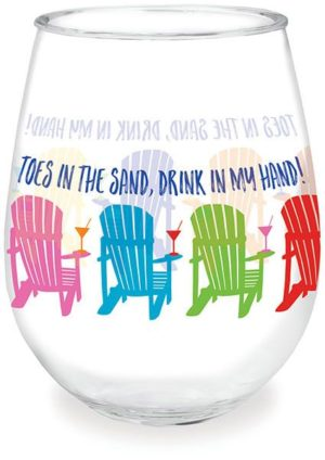 Wine Tumbler - Toes in the Sand