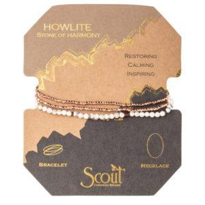 Delicate Stone Howlite - Stone of Harmony