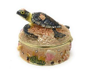 KUBLA CRAFTS baby sea turtle and sand box