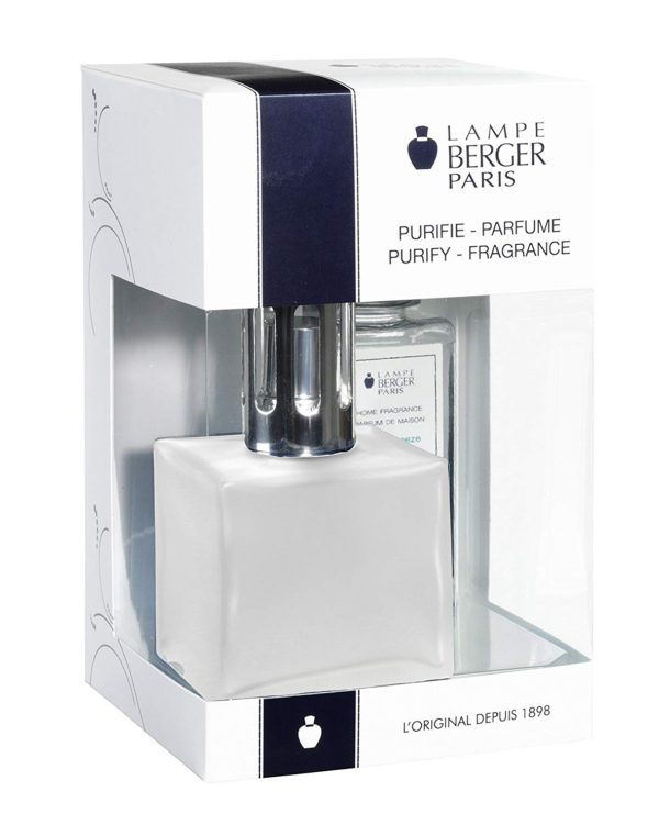 Cube Frosted Gift Set - Glass Lampe home fragrance air purifier by lampe berger maison berger