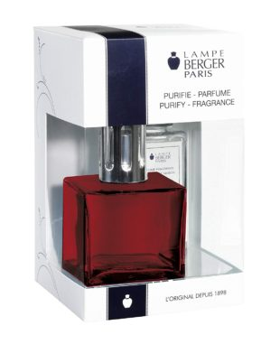 Cube Red Value Pack home fragrance air purifier by lampe berger maison berger