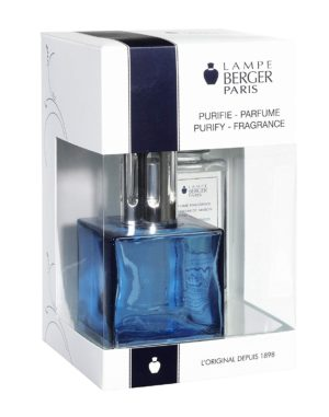 Cube Blue Gift Set - Glass Lampe home fragrance air purifier by lampe berger maison berger