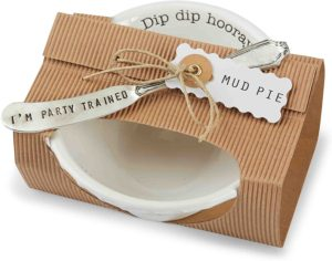 Amazon.com Mud Pie Dip Bowl Set, Hooray