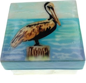 KUBLA CRAFTS PELICAN capiz box