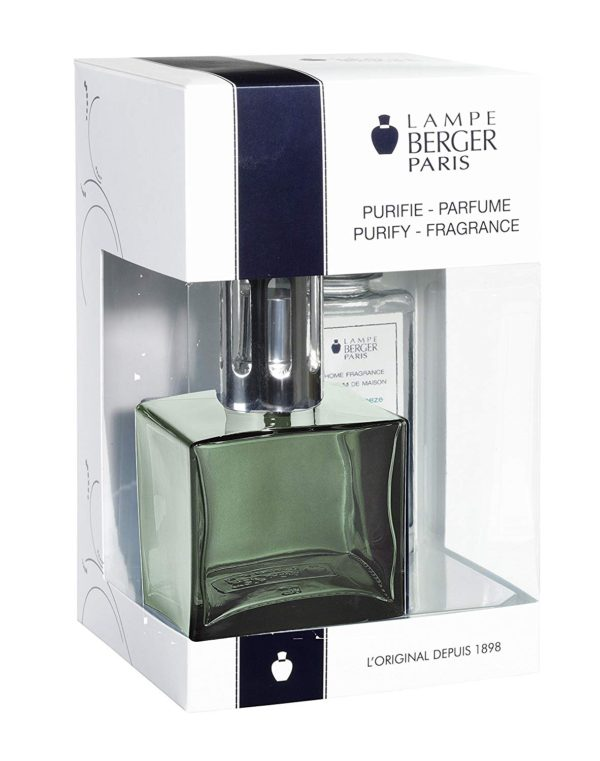 Cube Green Gift Set - Glass Lampe home fragrance air purifier by lampe berger maison berger