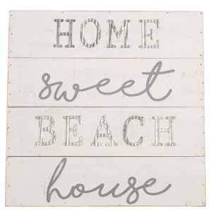 Planked Wood Plaque Home Sweet Beach House