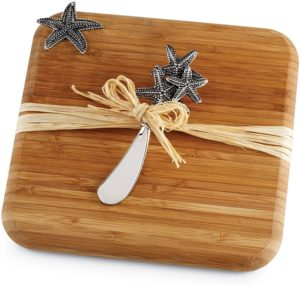 mud pie starfish bamboo board