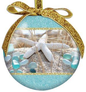 Ball Ornament - Beach Walk Sea Glass