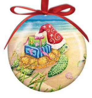 Ball Ornament - Sea Turtle Christmas