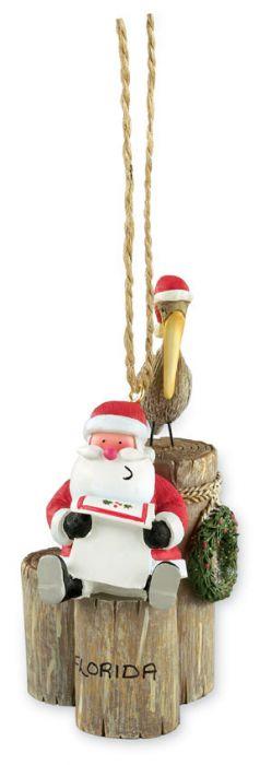 Resin Ornament - Santa with Pelican
