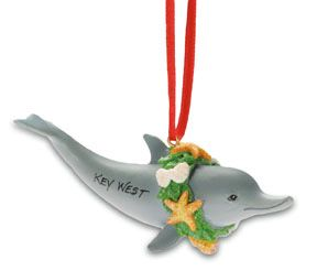 Resin Ornament - Dolphin Wreath