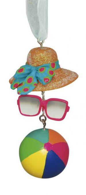 Resin Ornament - Sunglasses Ball Hat